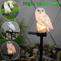 Outdoor Solar Power Garden Lights Owl Decor Path Lawn Yard L