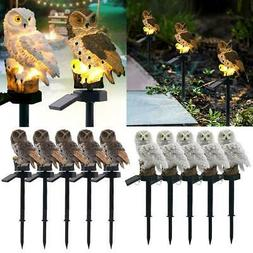 Outdoor Solar Power Garden Lights Owl Decor Path Lawn Yard L