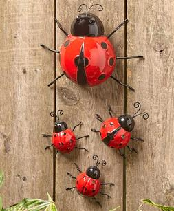 Outdoor Wall Art Metal Ladybug Yard Décor Garden Cute Indoo