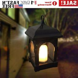 Outdoor Waterproof Solar Lantern Hanging Candle Lights Patio