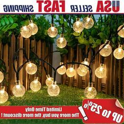 Outdoor Waterproof Solar Powered 30 LED String Light Garden