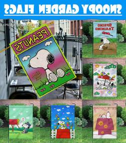 Outdoor Yard Decor 12X18 Inch Spring Snoopy Double Sided Pri