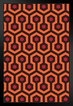 Overlook Hotel Retro Carpet Hexagon Pattern Art Print Framed