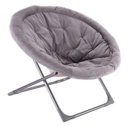 Costway Oversized Large Folding Saucer Moon Chair Corduroy I
