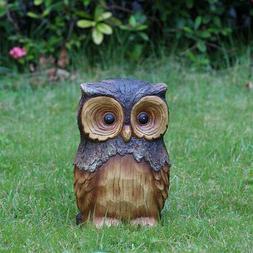 Owl Animal Garden Statue 11.5 Inch Lawn Yard Decor Outdoor F