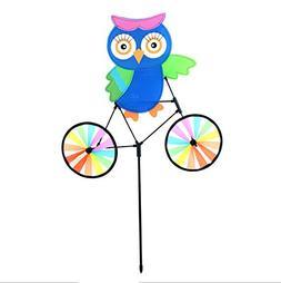 Owl Bicycle Pinwheel Spinner Whirligig Windmill - Ground Sta