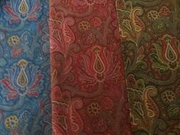 P Kaufmann Decor Fabric By The Yard  Green , Red , Blue