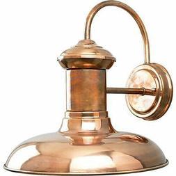 Progress Lighting P5723-14 1-Light Wall Lantern, Copper