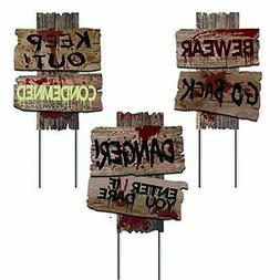 Liecho Pack of 3 Halloween Decorations Yard Signs Stakes Pro