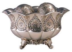 OK Lighting Paisley Bowl with Balls, Silver