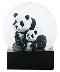 4.5 Inch Adult Panda with Baby Panda sitting in Water Globe