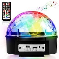Disco Ball Party Lights, YEENOR 9 Colors Sound Activated Str