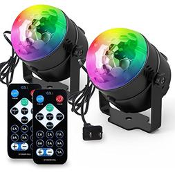 Yoozon Party Lights Sound Activated Disco Ball Party Light