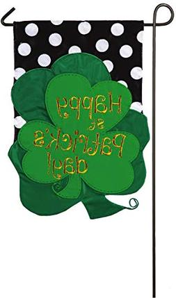 Evergreen St. Patrick's Day Bouquet Applique Garden Flag, 12