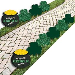 St. Patrick's Day - Shamrock and Pot of Gold Lawn Decoration
