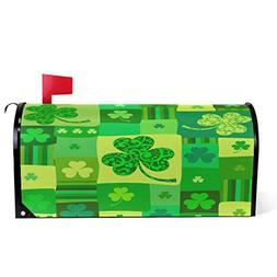 St.Patrick Day Shamrock Clover Magnetic Mailbox Cover MailWr
