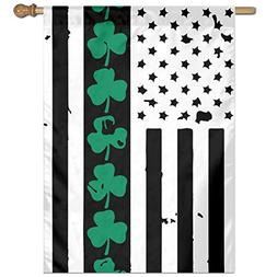 MKLNHBGFCH37 St.Patrick S Day Welcome Garden Flag Yard Flag
