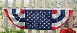 PATRIOTIC 4th of JULY DECOR AMERICAN FLAG BUNTING BANNER 60""