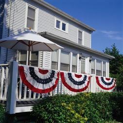 Evergreen Flag Medium Pleated Patriotic American Flag Buntin