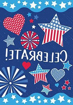 Eastif Patriotic Celebrate July Fourth USA Garden Flag, Doub
