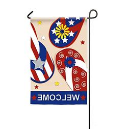 Patriotic Flip Flop Welcome Garden Flag