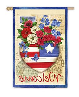 Patriotic Memories Vertical Flag