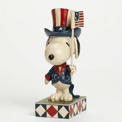 Patriotic Snoopy Peanuts Figurine Jim Shore USA Americana 4t