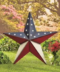 "24"" Patriotic Star Yard Stake or Wall Hanging Primitive Coun"