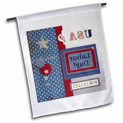 3dRose Patriotic Stars and Words in Blue, Silver, White and