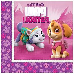 PAW PATROL GIRL LUNCH NAPKINS  ~ Birthday Party Supplies Din