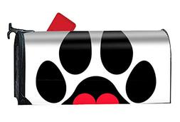 MALBX Paw Print Love Magnetic Mailbox Cover Yard Decor Stand