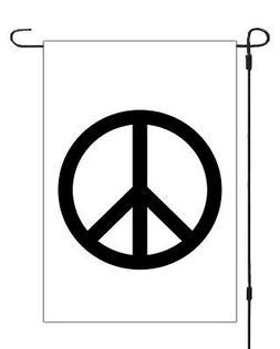 Peace Sign Symbol Garden Banner Flag Yard Decor Sleeved 11x1