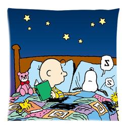 Peanuts Charlie Brown Snoopy Custom Square Zippered Pillow C
