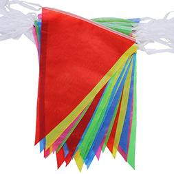 Walolo 164 Foot Pennant Banner - 75 Multicolor Bunting Flags