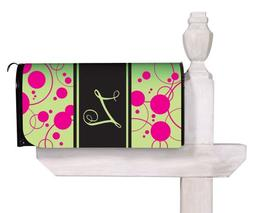 Evergreen Peppy Pink Monogram Glow in the Dark Mailbox Cover