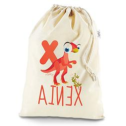 Personalised Baby Dinosaur Letter X X-Large White Christmas