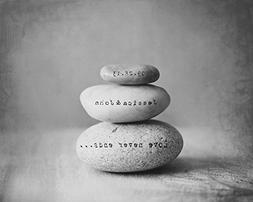 Personalized Bride and Groom Wedding Gift, Engraved Rock Sta