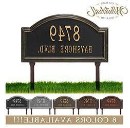 Metal Address Plaque Personalized Cast Lawn Mounted Providen