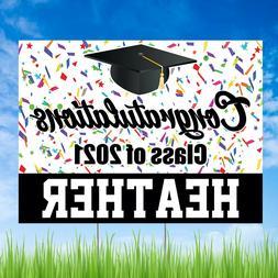 Personalized Class of 2020 Graduation Yard Sign Congratulati
