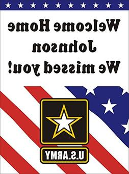 3ftX4ft Personalized Welcome Home US  Army Soldier Banner Si