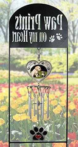 Pet Memorial Garden Stake - Pet Memorial Wind Chimes - Paw P