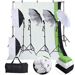 Safstar Photography Lighting Kits for Beginners, Includes Ch