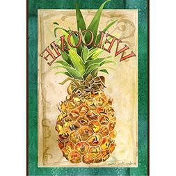 Toland Home Garden  Pineapple Welcome 28 x 40-Inch Decorativ