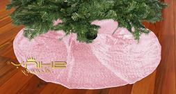 Pink-Sequin-Tree Skirt-48Inch Christmas Tree Shirt,Embroider