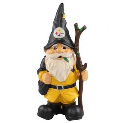 "FOCO Pittsburgh Steelers 10.5"" Holding Stick Garden Gnome"