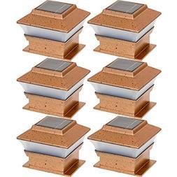 Tricod PL244 Plastic Copper Square Post Deck Fence Mount, 6-