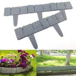 Plastic Cobbled Stone Effect Garden Edging Hammer-In Lawn Ed