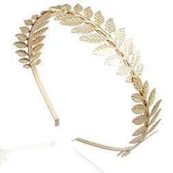 Gold 3-Branch Q&Q Fashion Roman Goddess Leaf Branch Dainty B