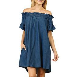 Hot Sale!! ZOMUSA Plus Size Womens Off The Shoulder Bardot D