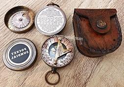 Pocket Sundial Compass London, Both Side Work on the Bird. C